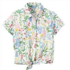 Carter's flower print button down shirt